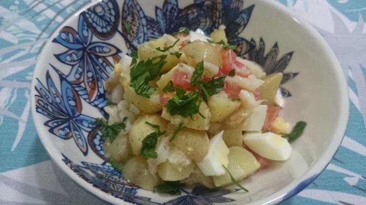Salada Morna de Bacalhau.