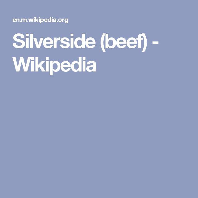 Silverside (beef) - Wikipedia