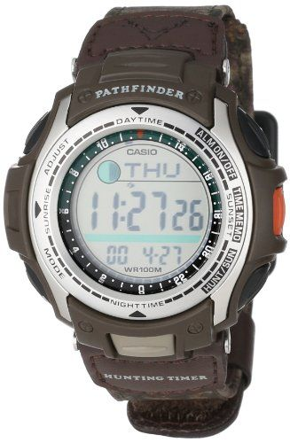 Casio Men's PAS410B-5V Pathfinder Moon Phase Hunting Timer Watch Reviews - OMJ Outdoors