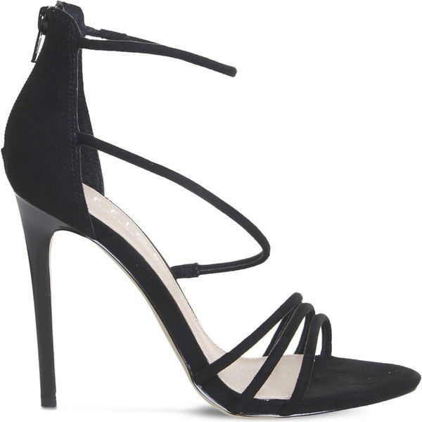 Office Harness strappy sandals ($69) ❤ liked on Polyvore featuring shoes, sandals, office sandals, office shoes, stilettos shoes, high heels sandals and stiletto high heel shoes