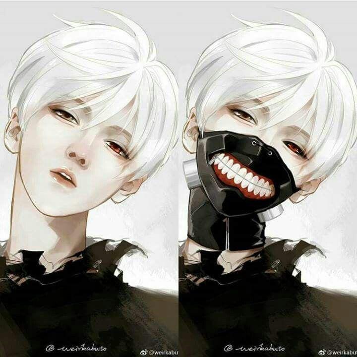 Luhan cosplay kaneki ken in tokyo Ghoul