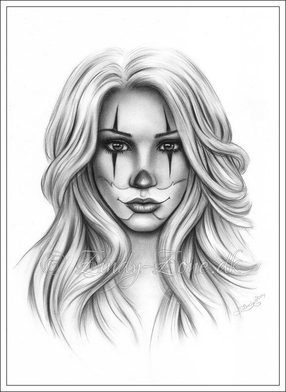 Clown Girl by Zindy.deviantart.com on @deviantART