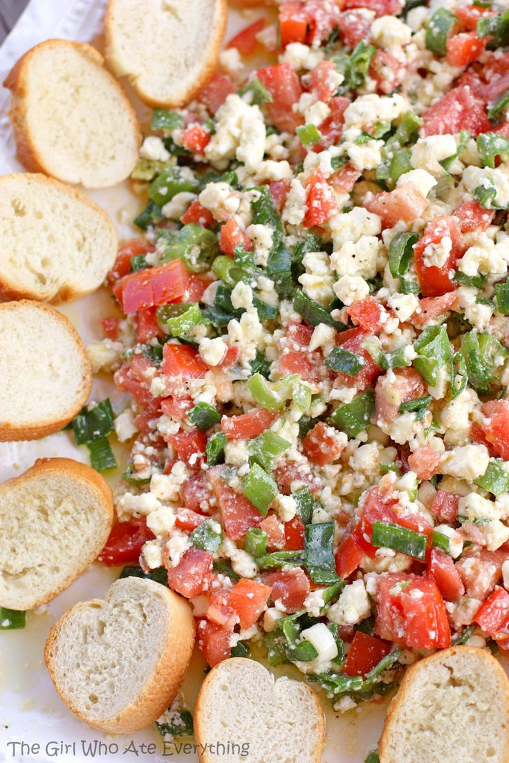 Easy Feta Dip with Olive Oil #superbow #gameday #appetizer