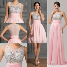 2015 Formal Long/Short Chiffon Evening Gown Party Prom Bridal Bridesmaid Dresses
