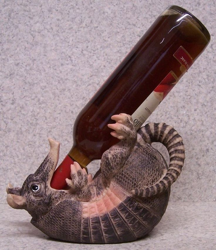 Wine Bottle Holder and/or Decorative Sculpture Armadillo NEW | eBay