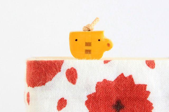 木のしおり カップくん(ブックマーカー) wooden bookmark
