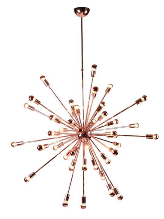 Sputnik Rose Gold Chandelier | Modern Furniture • Brickell Collection