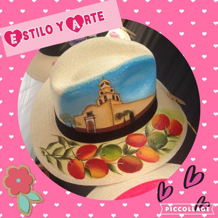 Sombreros pintados a mano $ 35000 Info whatsApp 3208098390