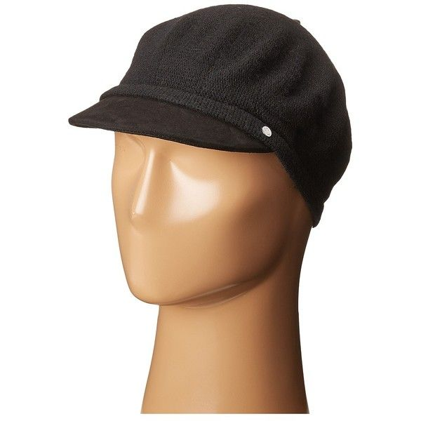LAUREN Ralph Lauren Suede Brim Greek Fisherman Hat (Black/Black) Caps (12.145 HUF) found on Polyvore featuring women's fashion, accessories, hats, cap hats, stitch hat, slouchy beret, suede hat and fisherman hat
