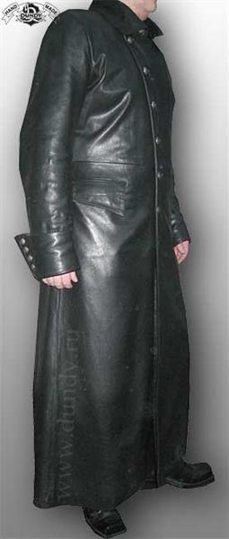 Мужские кожаные плащи и пальто