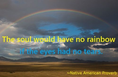 The eye would have no tears if the soul had no rainbow