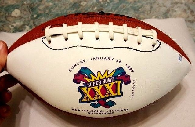 SUPER BOWL XXXI FOOTBALL Hutch Made in USA 1997 New Orleans Superdome NFL  #Hutch