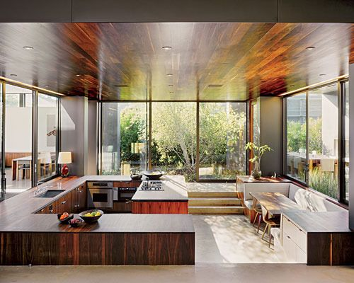 kitchen in radziner-cottle house (vienna way residence in venice, ca)