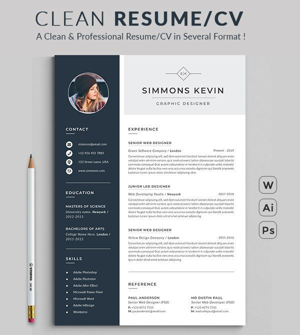 Resume Desain Cv Desain Resume Cv Kreatif
