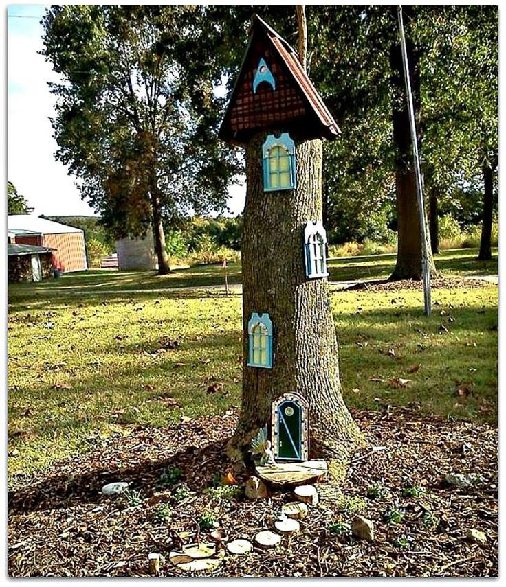 101 best fairy gardens inside or out images on pinterest for Upcycled tree stumps