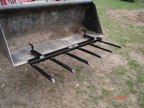 Manure Forks Hay Forks Brush Debris Rake Clamp On Bucket