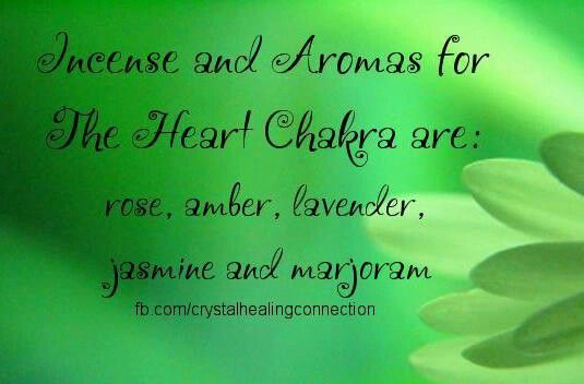 Heart Chakra - Incense  Aromas - loved & pinned by www.omved.com