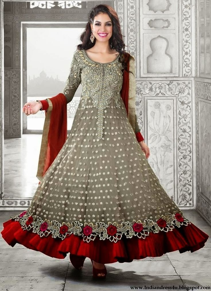 Newest Indian anarkali frocks for Ladies & girls 2015  (10)