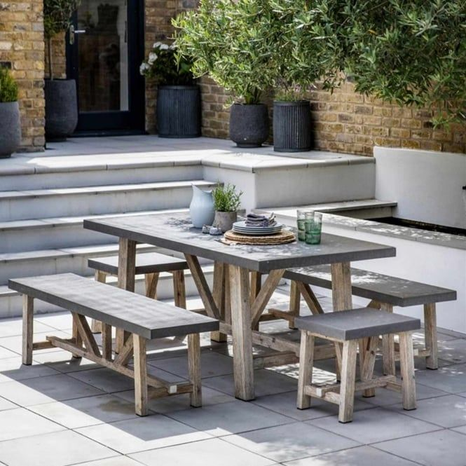 Garden Trading Chilson Table and Bench Set