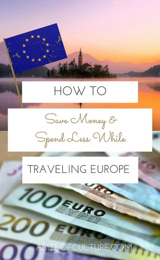 How to Save Money and Spend Less While Traveling in Europe - Traveling Europe on a budget is totally doable and you'll be able to travel more while spending less with these practical money saving tips for your trip to Europe! So go ahead... Get that extra scoop of gelato in Italy or that extra large beer in Germany! Happy travels!