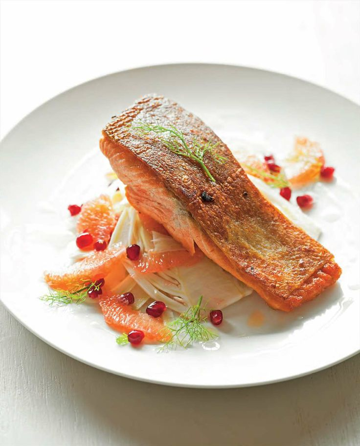 Ocean trout with fennel, grapefruit and pomegranate salad by Billy Law from Have You Eaten?   Cooked
