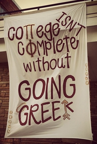 Pi Phi sign: College isn't complete without going Greek! #piphi #pibetaphi #gogreek