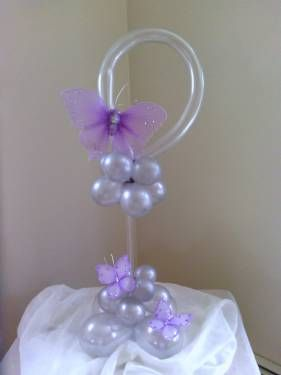 'Butterfly dream' - Birthday Balloon Centerpiece by Rosanna Cedeno CBA