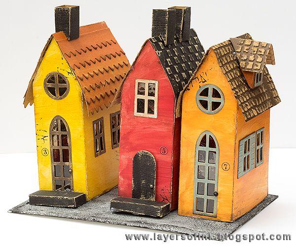 Christmas house paper model