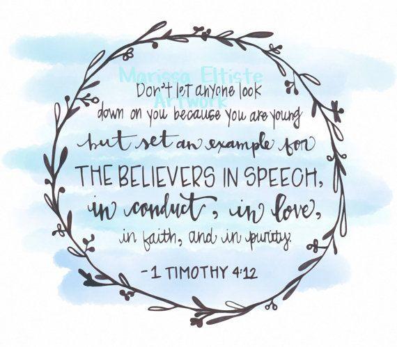 Bible Verse: 1 Timothy 4:12 - Google Search
