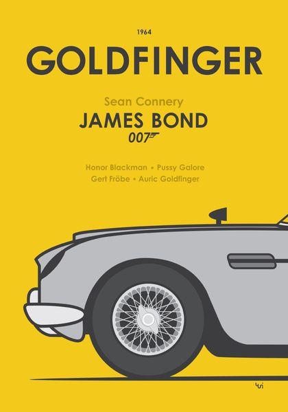 James Bond 007 Affiche met Aston Martin DB5