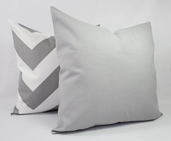 throw pillow cover one grey and white pillow cover 16 x 16 inch 18 x 18 grey decorative pillows grey pillow cover grey