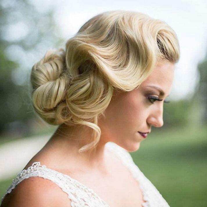 Unique Vintage Bridesmaid Hairstyles : Vintage Hair Trend 2017 https://bridalore.com/2017/04/21/vintage-bridesmaid-hairstyles-vintage-hair-trend-2017/