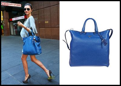 Miranda Kerr and the Prada Vitello Daino Tote | FASHION STYLE ...