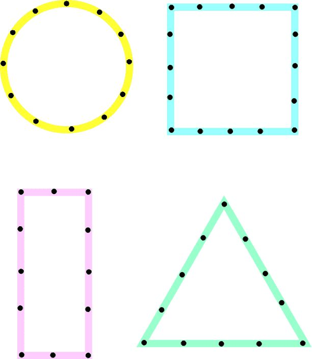 dot to dot shapes preschool - staff traces with a highlighter, students retrace with a crayon, students cut with scissors