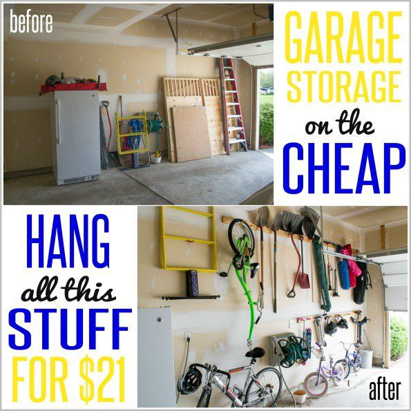How To Hang Stuff In Your Garage On The Cheap The Cool