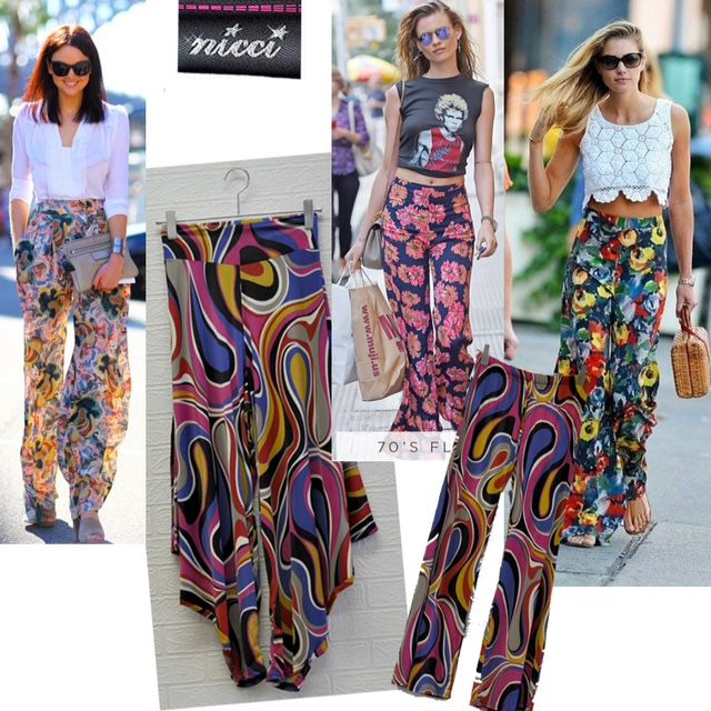 #retro printed pants are now trending! As seen on fashionistas #fun #printed #pants