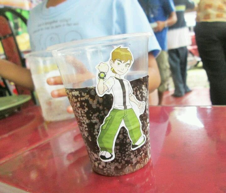 Ben10 cups: simply put ben10 sticker on cup