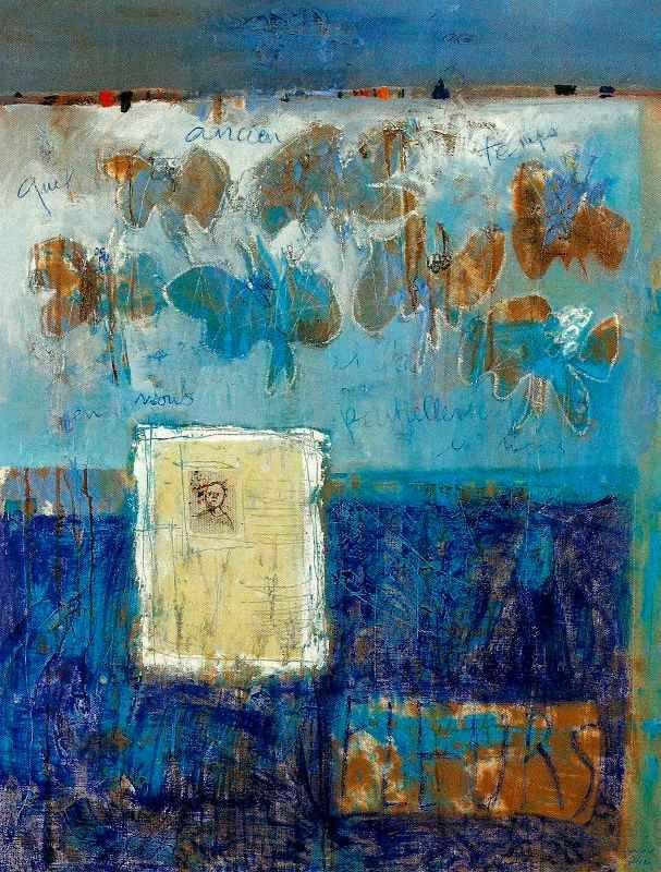 Francoise Pirro Quel ancien temps il fait, partiellement, en nous, 116x89, oil on canvas, 2012, Françoise Pirró