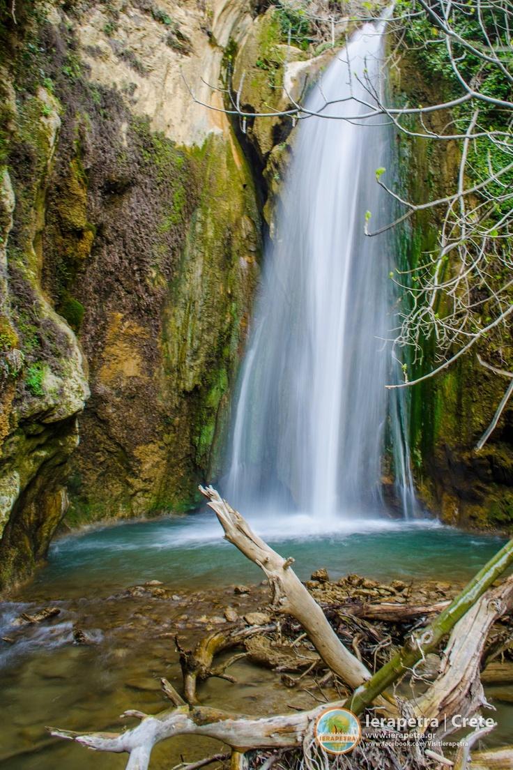 A waterfall inside the Butterfly Gorge, near the Oreino village in Ierapetra.