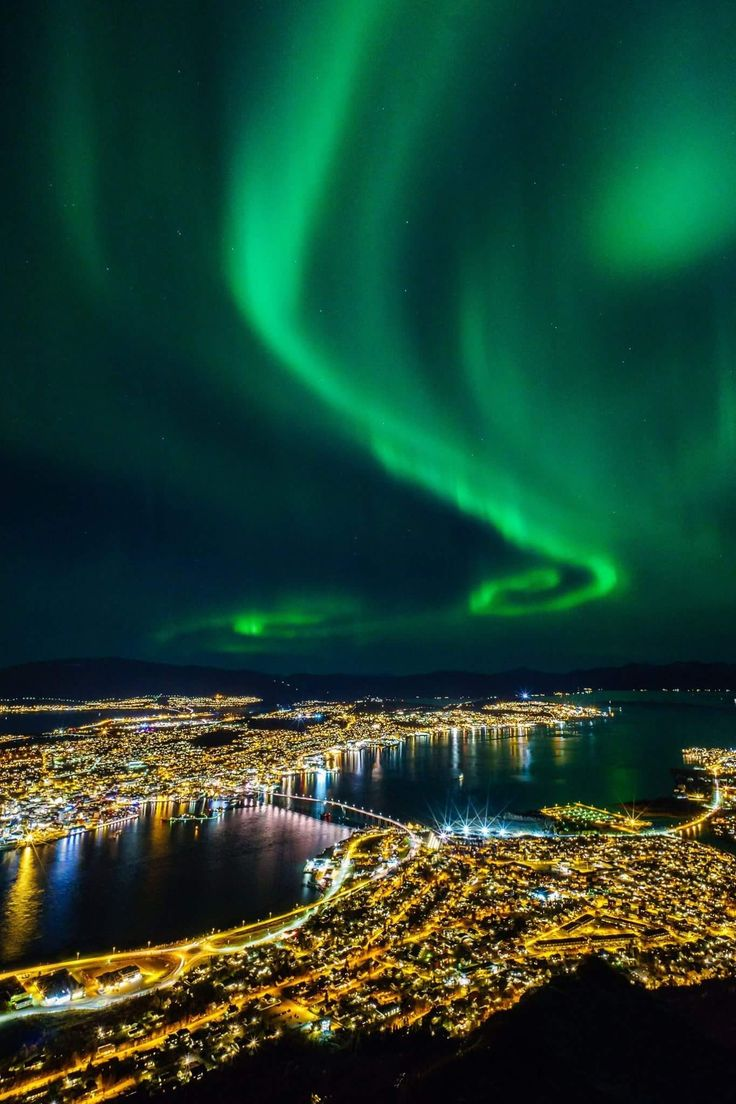 Bergen Norway Northern Lights