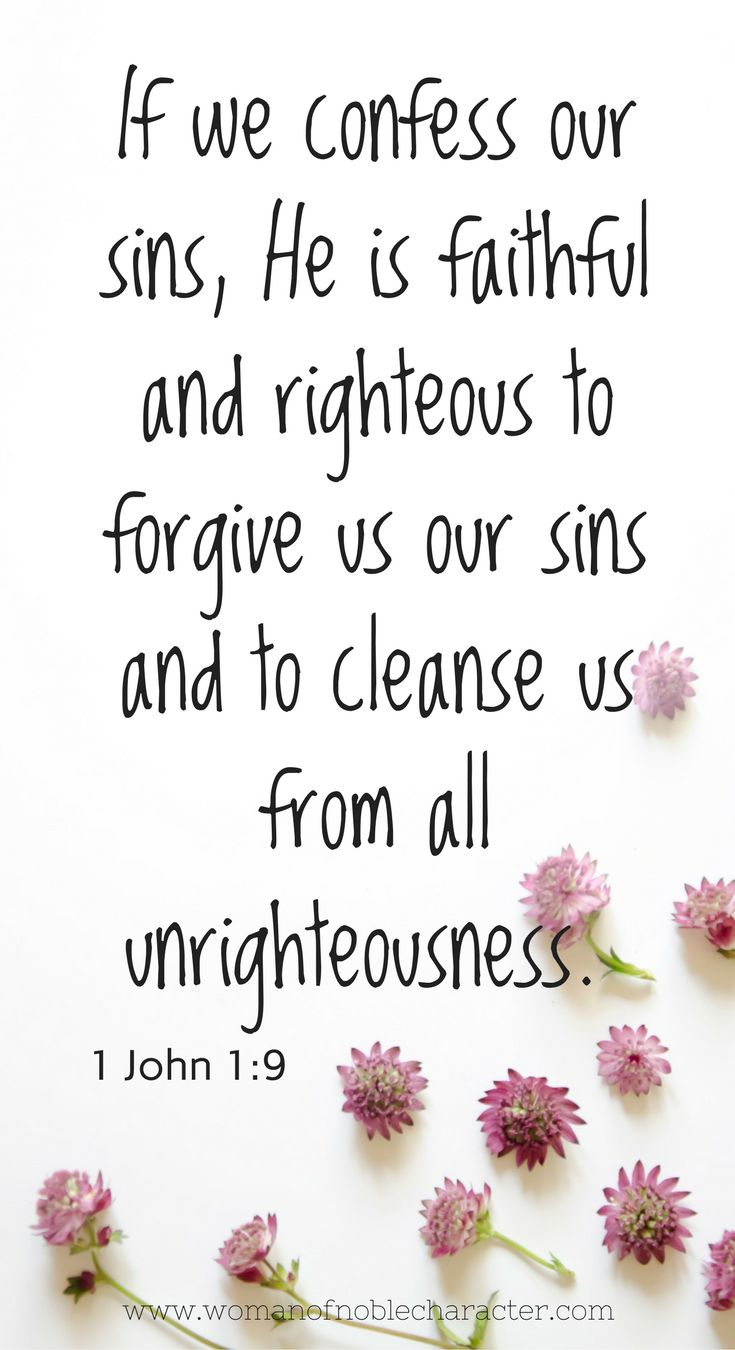 1 John 1_9 forgiveness Forgiveness. We have been made new in Christ. It's time to stop mourning over past sins and rest in God's forgiveness once and for all. #forgiveness #sin #faith #Christian #Christianity #Christianwoman #Christianwomen