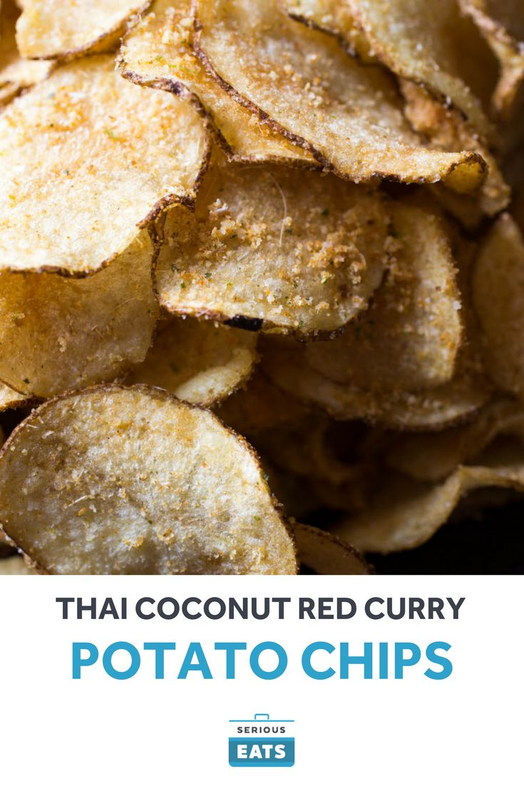 The flavors of a Thai curry...on a homemade potato chip.