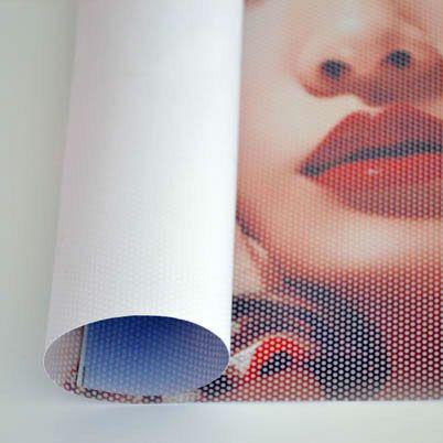 Impression autocollant vinyle grand format microperforé