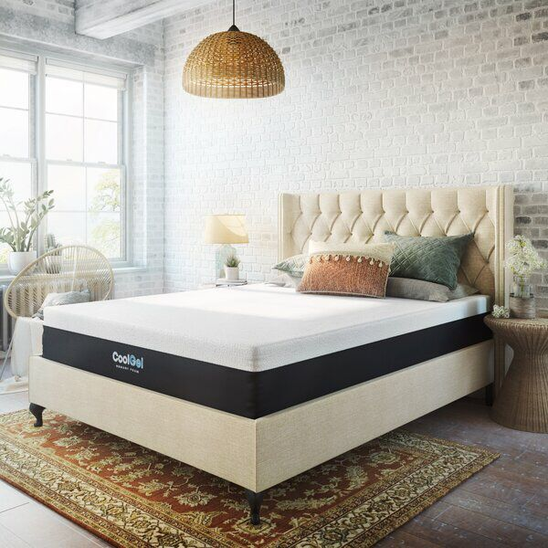 Cool Gel 12 Medium Gel Memory Foam Mattress In 2020 Upholstered Platform Bed Mattress Sizes Foam Mattress