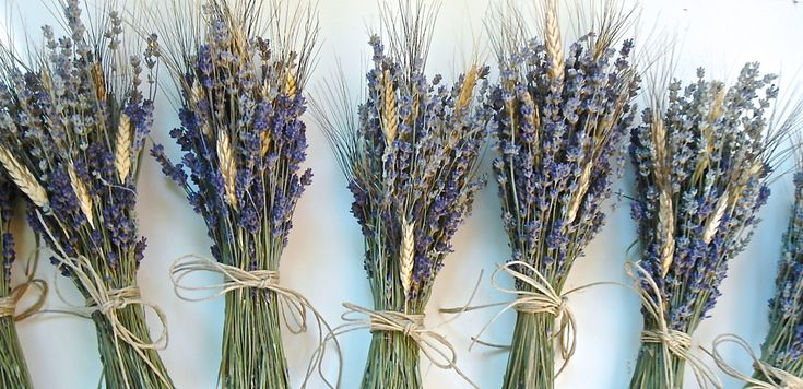 One Simple Lavender and Wheat Bouquet for a Rustic Summer  or Fall Wedding. $11.75, via Etsy.