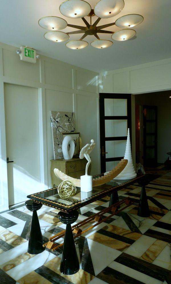 The foyer at Kelly Wearstler's design studio. Photo by Lynn Byrne