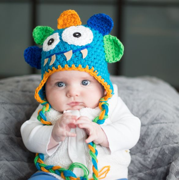 Little Monster Face  by Crafty Stuff Baby Hats and Photo Props, for sale on http://hellopretty.co.za