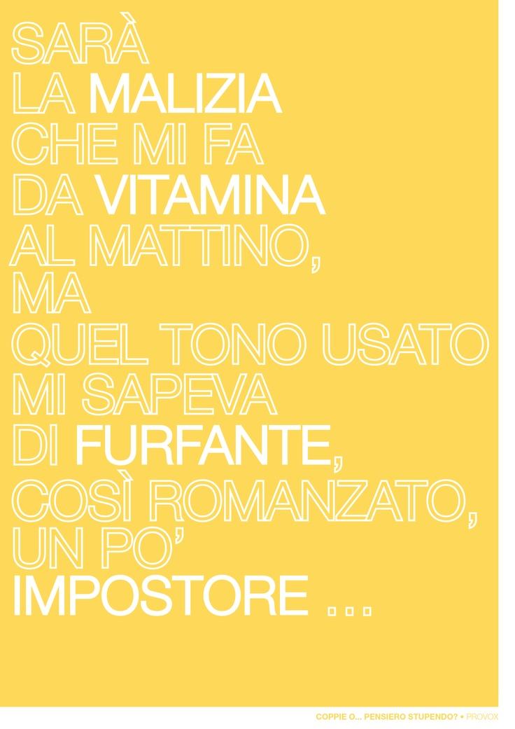 Coppie o... Pensiero Stupendo? (Provox • 18 Apr.) http://www.provox.it/coppie-o-pensiero-stupendo/