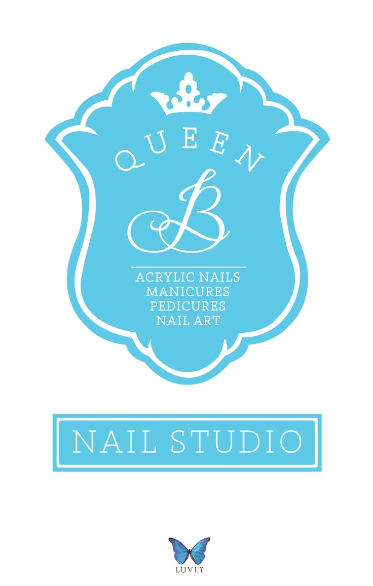 Queen B Nail Salon Branding, New Zealand. By Luvly Ltd. www.luvly.co.nz
