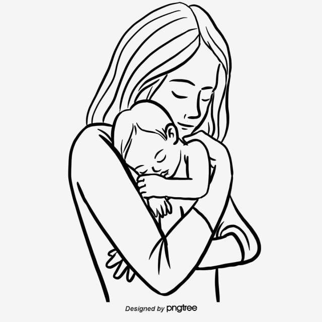 Ilustraciones Dibujadas A Mano De Madres Y Bebes En El Dia De La Madre Dibujo Mama Ninos Png Y Psd Para Descargar Gratis Pngtree How To Draw Hands Baby Sketch